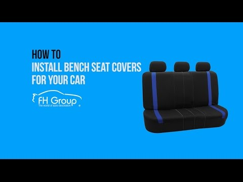 1 Minute Installation Car Rear Bench Seat Covers Installation - FH Group Auto ®