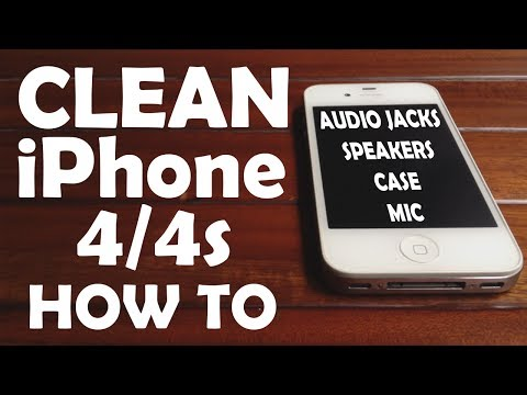 Clean iPhone 4/4S After Using 2 Years audio jack speaker mic