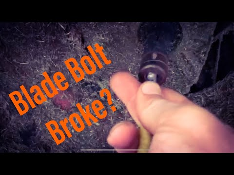 Remove Lawn Mower Broken Blade Bolt