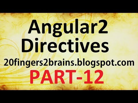 Angular 2 - Directives