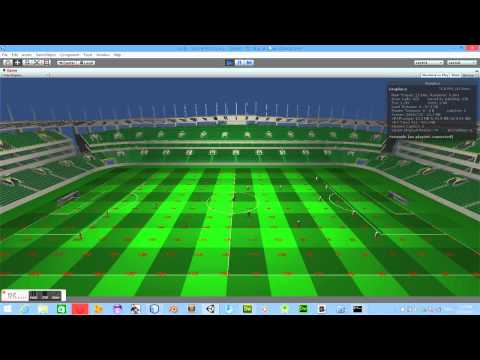 Learning Unity3D(trying to make a soccer game. working on the A.I) video 3