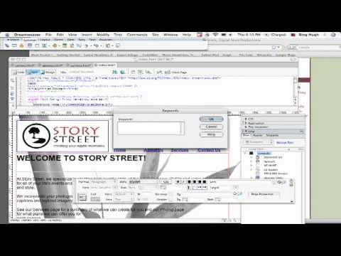 Dreamweaver Tutorial : How to Add Keywords to a Web Page With Dreamweaver