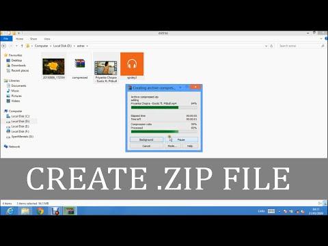How To CREATE ZIP FILE On WINDOWS 7/8/8.1/10