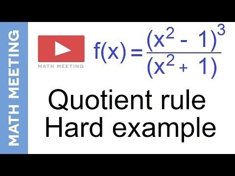 Quotient rule - Harder derivatives example