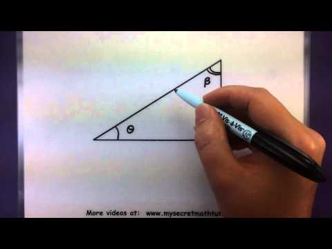 Trigonometry - Vocabulary of trigonometric functions