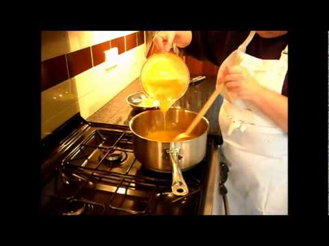 Making Mango Sorbet