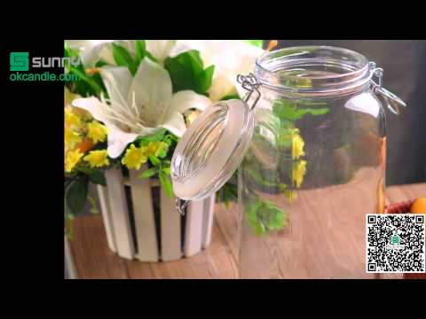 2L Airtight glass jar food container
