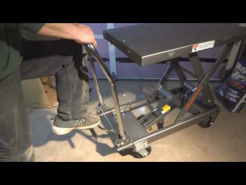 Harbor Freight 1000lb lift table - Unboxing, assembly and overview