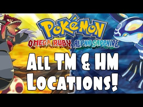 Pokemon Omega Ruby and Alpha Sapphire: All TM and HM Locations! Visual Walkthrough!