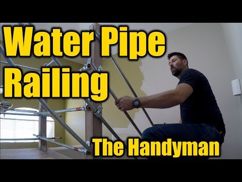 How To Build a Water Pipe Railing | THE HANDYMAN |