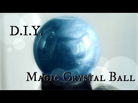 How to make a Fortune Teller's Crystal Ball // DIY Halloween Prop // The Magic Crafter