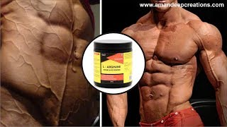L Arginine - Increase muscle building, protein synthesis & vascularity | Benefits | Dose | Healthvit