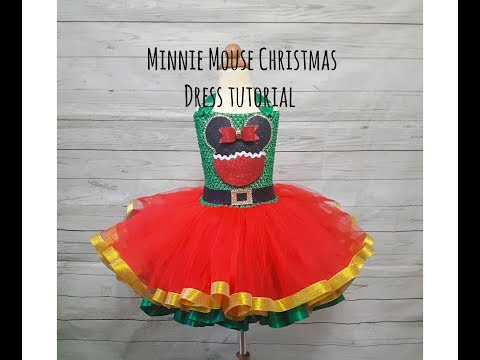 Minnie Mouse Christmas Tutu Dress Tutorial!