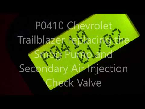 P0410 Chevrolet Trailblazer Secondary Air Injection Check Valve  and pump replacement