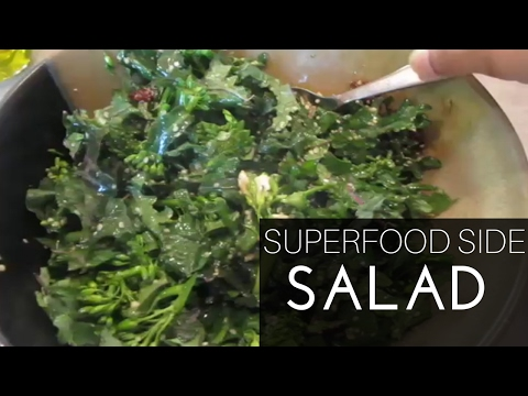 How to Make Chick-fil-a Superfood Side KALE & BROCCOLINI SALAD | CHICK-FIL-A COPYCAT |