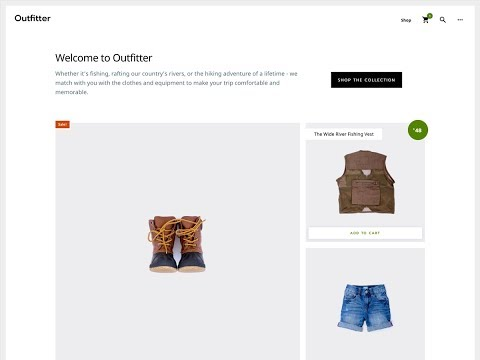 Text Over Image Behind Header On Front Page of OutFitter Pro