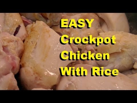 EASY Crockpot Chicken With Rice