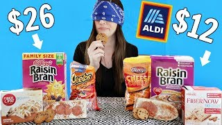 ALDI vs NAME BRAND FOOD (Blind Taste Test)