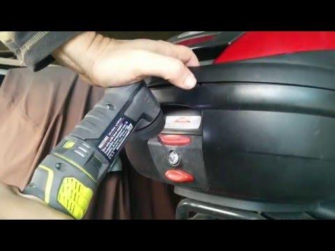Drilling Open a Lock - Givi Top Case