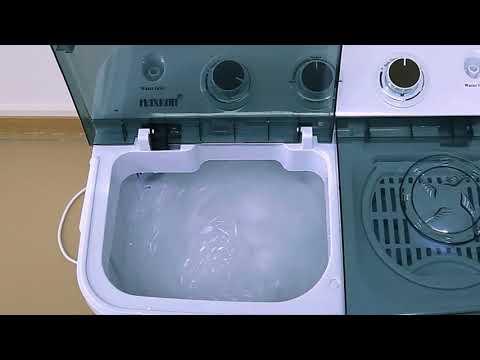 Maxkon 4KG Washing Machine Cleaner Mini Top Load Washer Dryer - White/Black