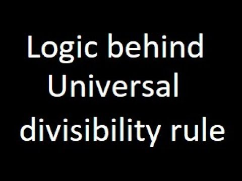 Logic behind the General or Universal divisibility rule | Pank PO | IBPS |