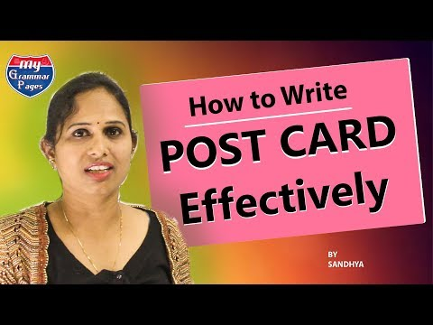 Learn English || English  POST CARD Writing || my grammar pages