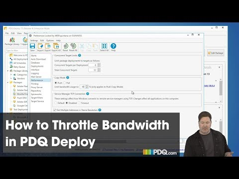 How to Throttle Bandwidth in PDQ Deploy
