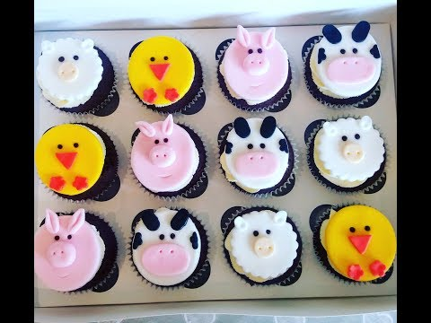 How to make farm animal cupcake toppers
