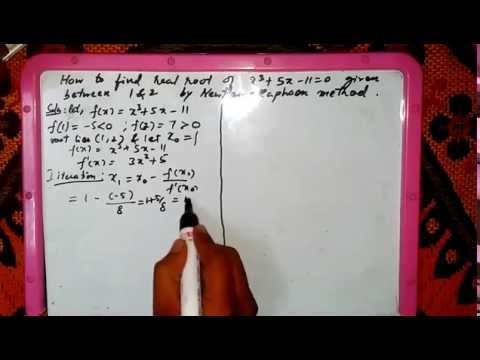 How to find real root using Newton raphson method