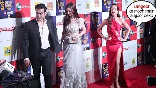 Arbaaz Khan IGNORES Malaika Arora Bcoz of her Relationship with Arjun Kapoor @Zee Cine Awards 2019
