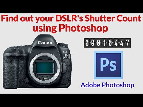 How to Check a DSLR's Shutter Count using Photoshop. Works for Nikon, Canon, Pentax, Samsung etc.