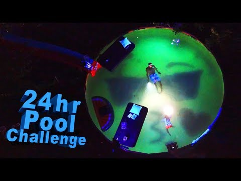 24 Hours in Swimming Pool Challenge!