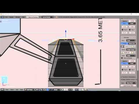 Blender For Noobs - Spaceship tutorial - Part 3 of 12