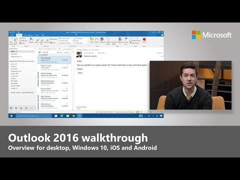 Outlook 2016 overview for desktop, Windows 10, iOS & Android