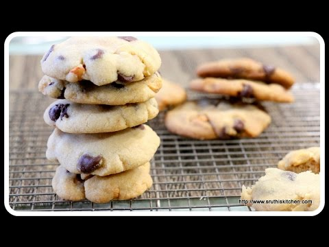 Eggless Chocolate Chip Cookies - Eggless Baking with and without oven