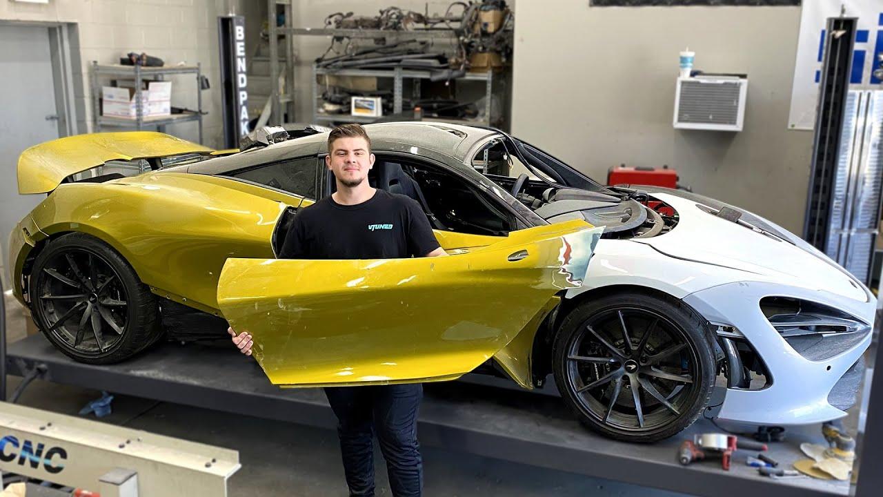 Fixing my McLaren 720s Fiber Glass Doors ! - Episode 18