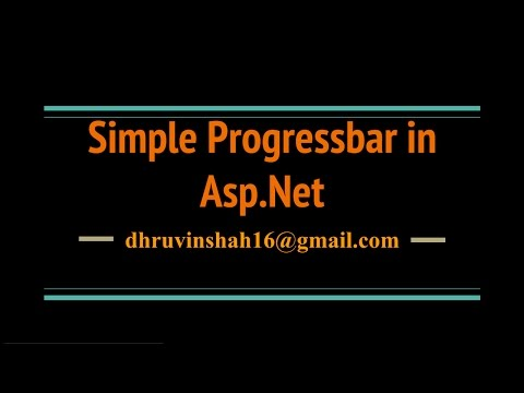 How to create a Progress bar in Asp.Net C#?