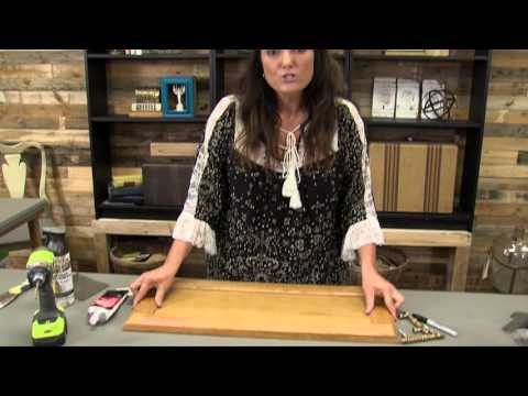 Transform an old cabinet door into a serving tray