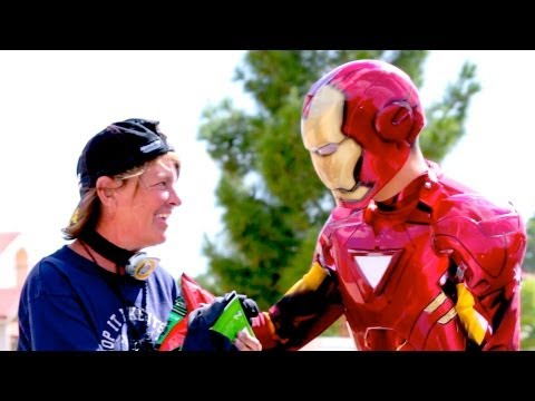 Iron Man Helps The Homeless Smile
