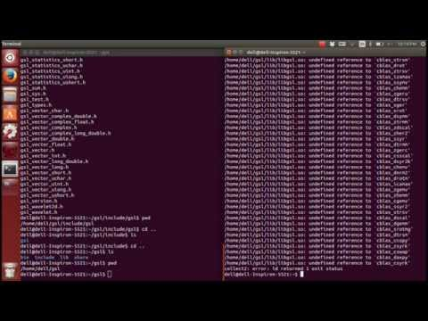Install and use GNU GSL library in Ubuntu 14.04 (Linux, C++)