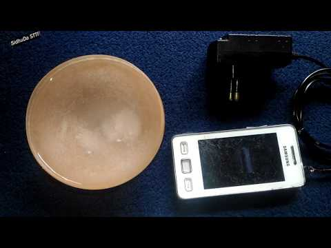 Alternator Free Energy Smartphone Charger using Water and Salt - Experiment 2018, DIY