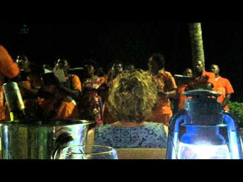 Turtle Island Choir, dinner at Turtle Island, Fiji