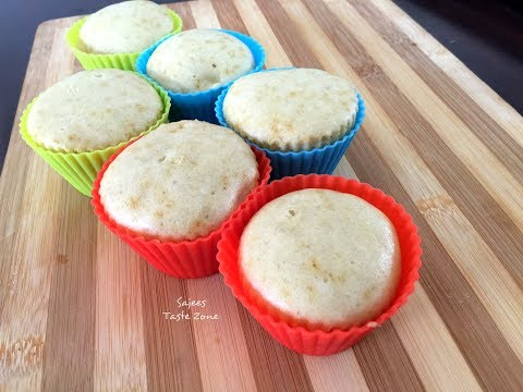 Steamed Cupcake | No Oven No Beater Vanilla Cupcake | കപ്കേക്