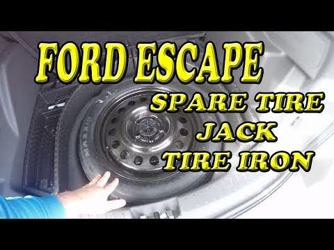Ford Escape Where is my Spare Tire Jack and Tire Iron