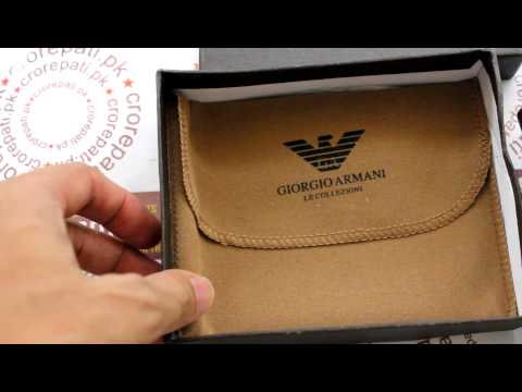 Crorepati.pk: Giorgio Armani Mens Wallet (Brown)