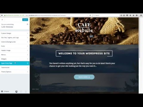 How to Make A Website for free on WordPress.com Restaurant Example