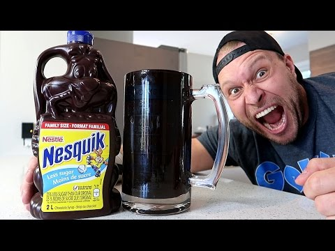 2 Liter Chocolate Syrup Challenge (6,666 Calories)