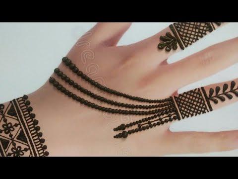 Simple Stylish Back Hand Mehndi Design Easy Jewellery