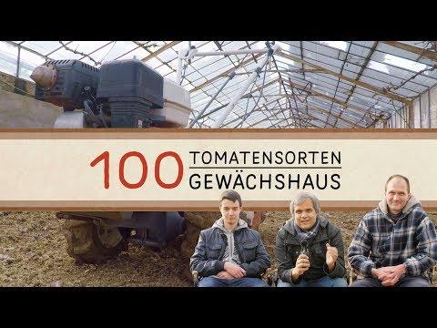 Bodenbearbeitung im Gewächhaus - Das 100 Tomatensorten Gewächshaus