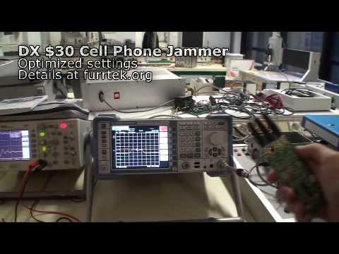 Dealextreme Cell Phone Jammer Spectrum Analyzer Test
